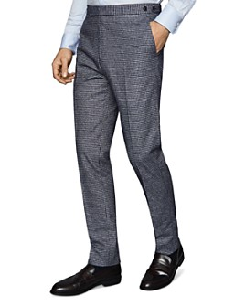 REISS - Leon Slim Fit Dogtooth Print Suit Pants