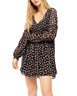 Free People - Maria Smocked Floral Mini Dress
