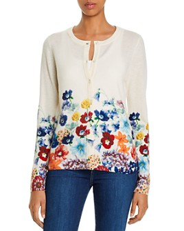 C by Bloomingdale's - Floral Cashmere Cardigan - 100% Exclusive