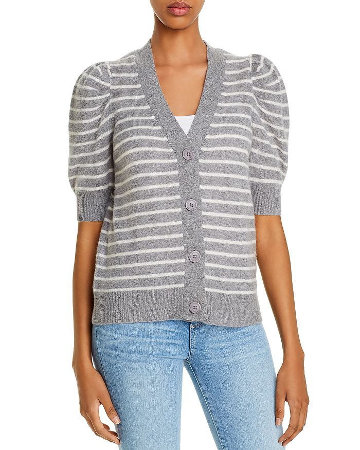 C by Bloomingdale's - Cashmere Striped Cardigan - 100% Exclusive