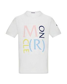 Moncler - Unisex Moncler Lettering T-Shirt - Big Kid