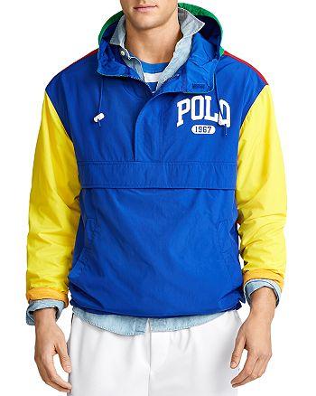 Polo Ralph Lauren - Color-Block Half-Zip Graphic Logo Jacket