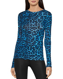 BCBGMAXAZRIA - Leopard Print Jersey Top