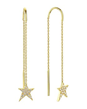 OWN YOUR STORY - 14K Yellow Gold Cosmos Diamond Rock Star Threader Earrings