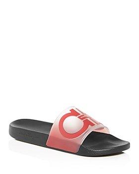 Salvatore Ferragamo - Men's Groove 6 Gancini Translucent Slide Sandals - 100% Exclusive