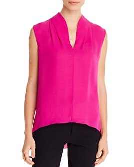 Elie Tahari - Judith V-Neck Sleeveless Top