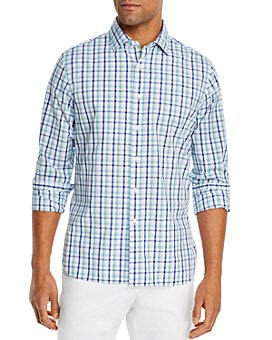 The Men's Store at Bloomingdale's - Cotton-Blend Checked Classic Fit Shirt - 100% Exclusive