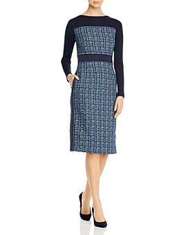 BOSS - Danopus Colorblocked Tweed Dress
