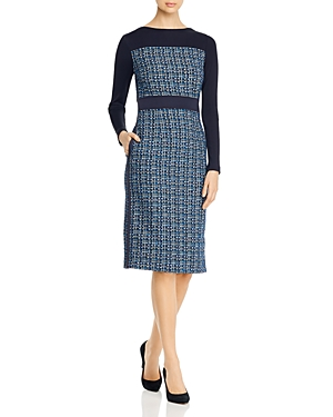 Boss Danopus Colorblocked Tweed Dress