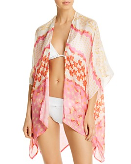 Echo - Flora Printed Duster Swim Cover-Up