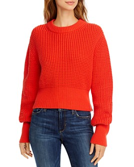 FRENCH CONNECTION - Luna Mozart Waffle-Knit Cotton Sweater