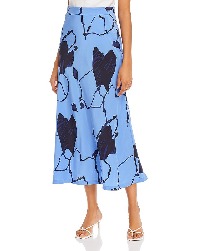 Equipment - Iva Silk Printed Skirt