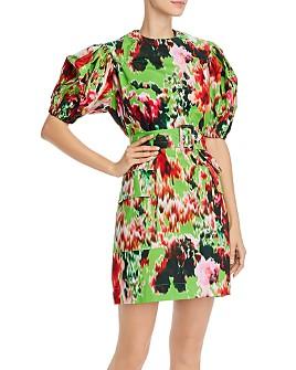MSGM - Abito Cotton Printed Mini Dress