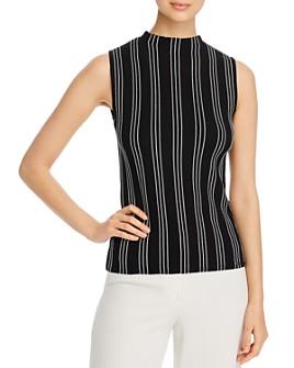 T Tahari - Sleeveless Striped Top