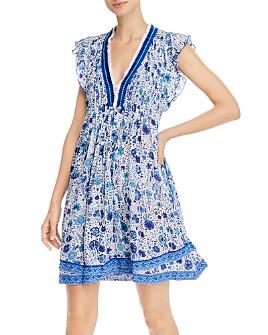 Poupette St. Barth - Floral-Print Flutter-Sleeve Dress