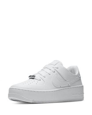 white platform nike sneakers