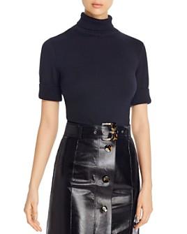 Lafayette 148 New York - Cotton & Silk Mock-Neck Cropped Sweater