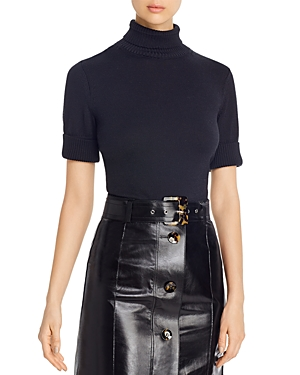 Lafayette 148 New York Cotton & Silk Mock Neck Cropped Sweater-Women