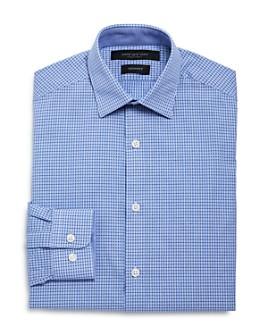 Andrew Marc - Boys' Mini Check Dress Shirt - Big Kid