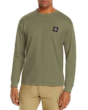 Stone Island Cotton Solid Logo-Patch Tee