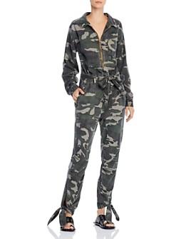 PAM & GELA - Camo-Print Zip-Front Jumpsuit