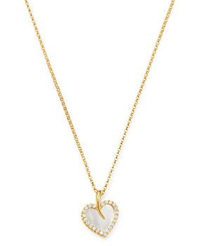 Roberto Coin - 18K Yellow Gold Mother-of-Pearl & Diamond Heart Pendant Necklace - 100% Exclusive