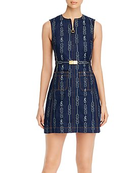 Tory Burch - Belted Gemini Cotton Jacquard Dress
