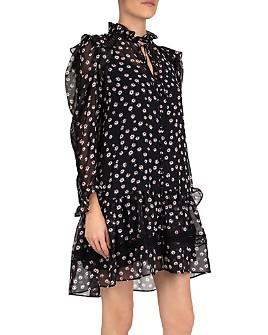 The Kooples - Tie Flowers Mini Dress