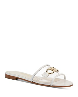 Salvatore Ferragamo - Women's Embellished Translucent Slide Sandals