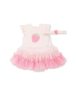 Little Me - Girls' Strawberry Tutu Bodysuit & Headband Set - Baby
