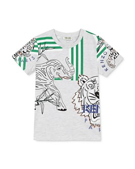 Kenzo - Boys' Tiger & Friends Tee - Big Kid