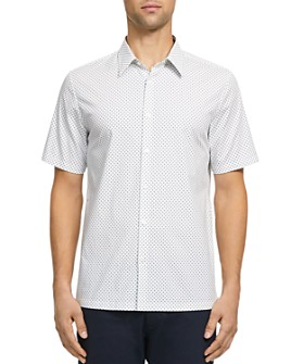 Theory - Irving Witan Slim Fit Short Sleeve Button-Down Shirt