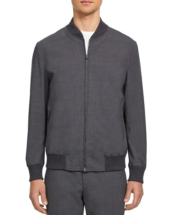 Theory - Aiden Good Wool Slim Fit Bomber Jacket - 100% Exclusive