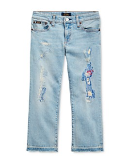 Ralph Lauren - Girls' Cropped Flare Denim Jean - Big Kid