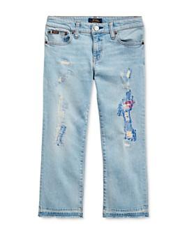 Ralph Lauren - Girls' Cropped Flare Denim Jean - Big Kid