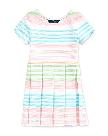 Ralph Lauren - Girls' Striped Ottoman-Rib Dress - Little Kid