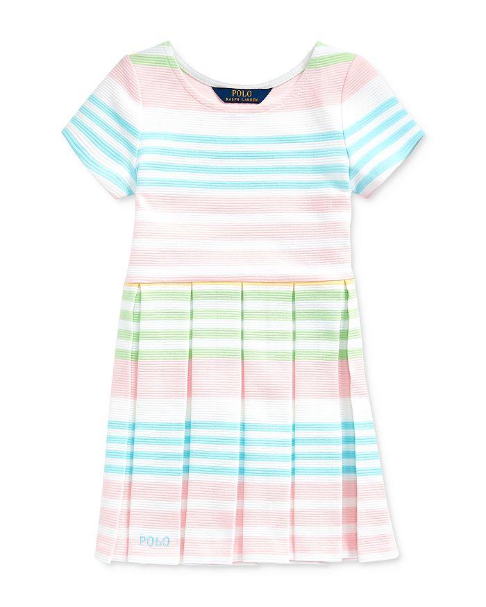 Ralph Lauren - Girls' Striped Ottoman-Rib Dress - Little Kid