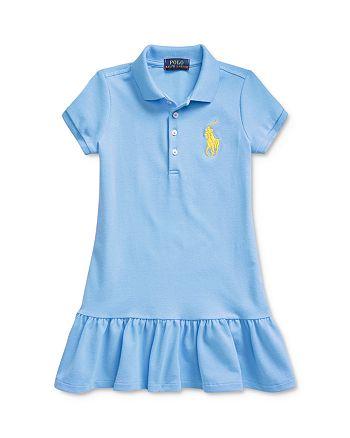 Ralph Lauren - Girls' Short-Sleeve Big Pony Dress, Little Kid - 100% Exclusive