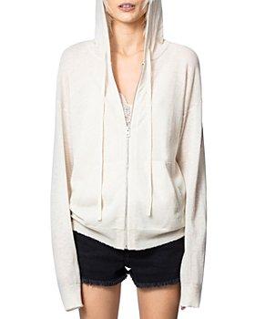 Zadig & Voltaire - Sixtine Zip-Front Hooded Cashmere Sweatshirt