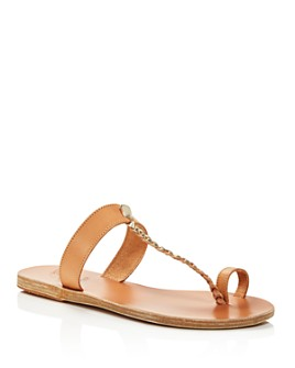 Ancient Greek Sandals - Women's Melpomeni Toe-Ring T-Strap Sandals