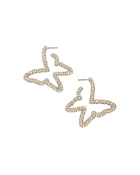 BAUBLEBAR - Gossamer Pavé Butterfly Hoop Earrings