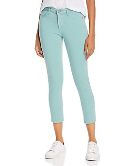 AG - Prima Mid-Rise Cropped Skinny Jeans in Mint Jade
