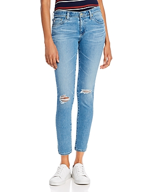 Mid-Rise Ankle Skinny Jeans in 16 Years Composure Destructed