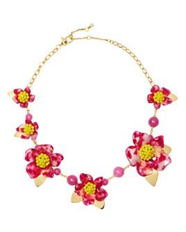 "kate spade new york - Botanical Garden Resin Flower Statement Necklace, 18"""