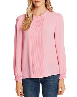 CeCe - Pintucked Long-Sleeve Blouse
