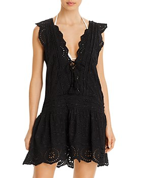 Surf Gypsy - Eyelet Mini Dress Swim Cover-Up