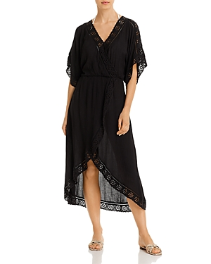 Surf Gypsy Eyelet Maxi Dress Swim Cover-Up