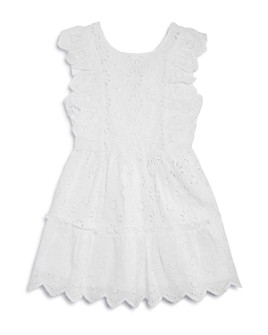 BCBGirls - Girls' Cotton Eyelet Tassel Dress - Big Kid