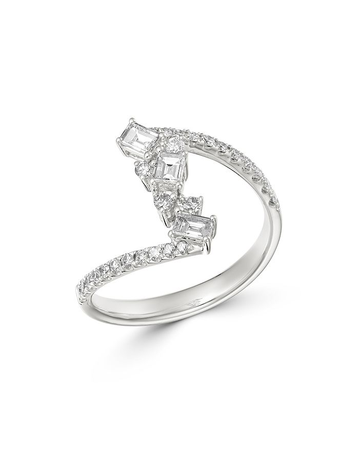 Bloomingdale's - Diamond Scatter Statement Ring in 14K White Gold, 0.6 ct. tw - 100% Exclusive