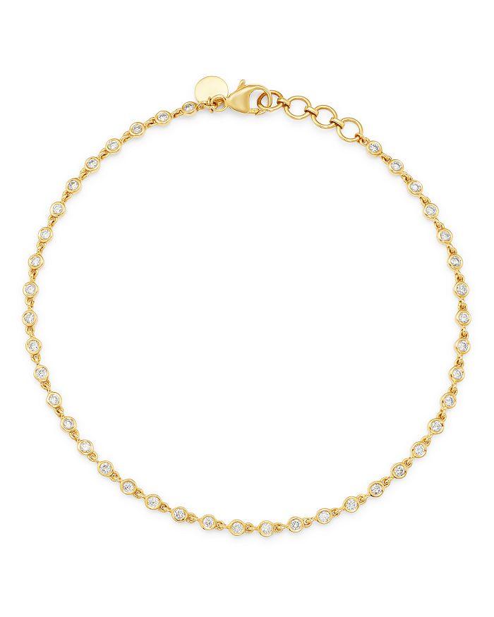 Bloomingdale's - Diamond Bezel-Set Link Bracelet in 14K Yellow Gold - 100% Exclusive